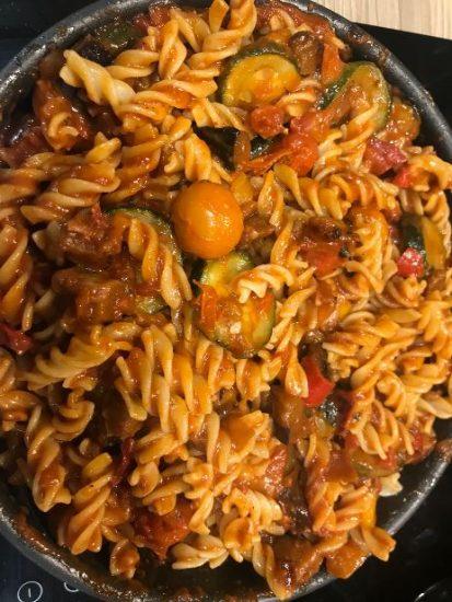 Lunchtime Gluten-free Tomato And Veg Pasta
